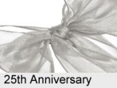 silver ribbon 25th wedding anniversary