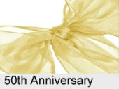 gold ribbon 50th wedding anniversary