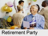 retirement party card and balloons